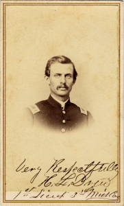 Harvey Drew was a dashing young cavalry officer in 1862.